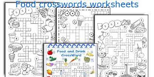 english teaching worksheets food crosswords