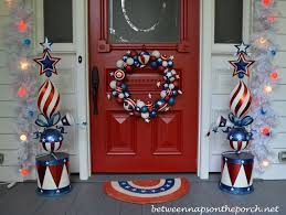 4th of july wreaths 4th of july porch decorating ideas