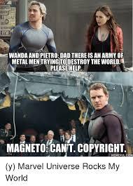 Wanda Meme - mipate wanda and pietro dad there is an armyof metalmentrying