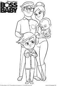 templeton family from the boss baby coloring pages printable