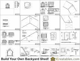 Gambrel Roof Barn Plans 8x10 Gambrel Shed Plans Icreatables Com