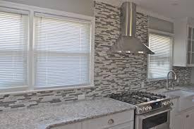 Gray Glass Tile Kitchen Backsplash Grey Glass Backsplash 2936