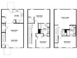 3bed 2bath Floor Plans 3 Bed 2 Bath Apartment In Washington Dc Henson Ridge Townhomes