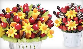 incredibly edible delights fresh fruit bouquets fruitflowers closed groupon