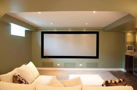 home theater in basement the floor added by wall light black