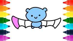 how to draw halloween bat spider cat ghost for baby