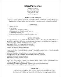 lpn resume exles pediatric resume resume templates