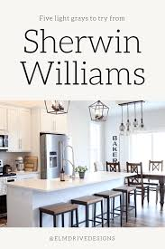 best sherwin williams paint color kitchen cabinets five shades of light gray by sherwin williams cool and warm