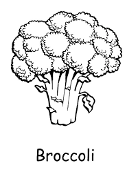 Brocoli Coloring Pages Vegetables Printable Coloring Pages Green Coloring Page