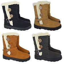 womens boots cheap uk womens quilted winter fur lined fashion ankle boots