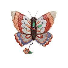allen design clocks free flying butterfly clock artsy abode