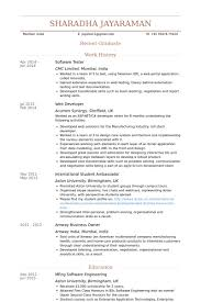 Testing Resume Sample For 2 Years Experience by Software Tester Resume Samples Visualcv Resume Samples Database