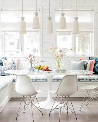 Kitchen L Shaped Dining Table Oval Saarinen Dining Table At L Shaped Banquette Contemporary