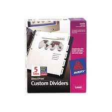 avery direct print presentation dividers template avery print on