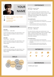 free templates resume fitzroy modern border resume template