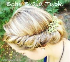tuck in hairstyles boho braid tuck tutorial our cone zone