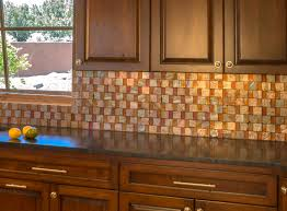 Glass Backsplash Tile For Kitchen Kitchen Sunburst Copper Backsplash Home Design And Copper