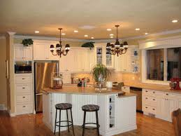 kitchen island in the middle mix refrigerator light wood modern