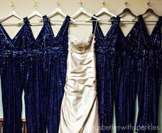 blue sequin bridesmaid dress sparkle me pretty 12 sparkly dresses for the wedding midnight blue