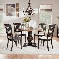 homesullivan sawyer 5 piece antique black mission back dining set