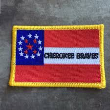 Dominican Republic Flag Patch Cherokee Braves Civil War Flag Patch Ebay