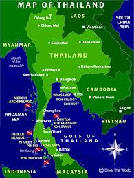 map of thailand thailand map bangkok phuket pattaya krabi koh samui dive