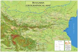 Map Of Bulgaria Geographical Map Bulgaria In English Vector Version U2013 Oc Stoyanov