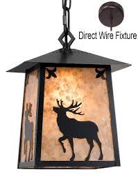 Elk Pendant Lights Elk Deer Mica Pendant Light 9 5