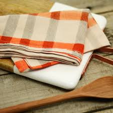Gingham Kitchen by Orange Gingham Kitchen Tea Towel U2013 Freckled Hen Farmhouse