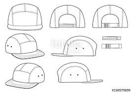 camp cap technical drawing flat sketches template