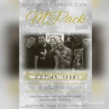 Southern Comfort Cafe Band Southern Comfort Cafe Orange 16 November