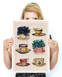kitchen collection black friday black friday vintage tea cups collection poster tea cup