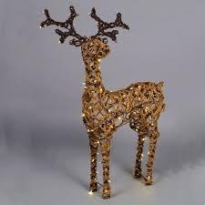 Christmas Decorations Light Up Deer by Outdoor Fur Effect Standing Led Reindeer Light Light Up Reindeer