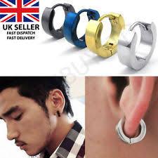 mens earrings uk black hoop earrings earrings ebay