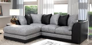 Grey Corner Sofa Bed Dalan Corner Black Grey Left Sofa