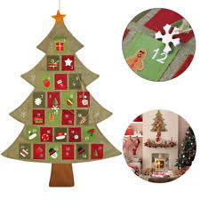 threshold tabletop wood tree countdown advent calendar