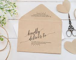 wedding envelope calligraphy envelope printable envelope template wedding