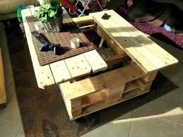 how to build a multifunction pallet coffee table with storage