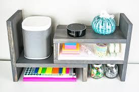 Small Desk Organizer White Adjustable Desktop Organizer Diy Projects