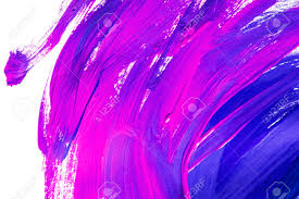 purple paint blue and purple paint brush strokes on white as a background stock