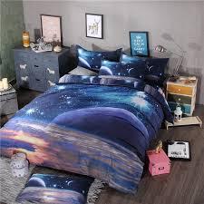 Galaxy Bed Set Galaxy Unicorn Universe Print Bedding Sets Duvet Cover Set Single
