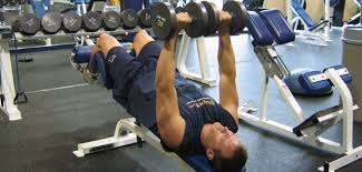 Bench Pressing With Dumbbells Decline Dumbbell Bench Press Chest Exercise Guide