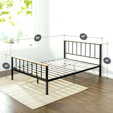 platform bed frame white bedroom furniture modern metal bed