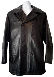 motorcycle jacket brands schott nyc black leather naval pea coat 740n size 40 price