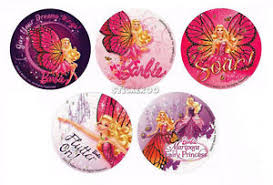 10 barbie mariposa glitter stickers kid party goody loot bag