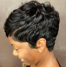 cropped hairstyles with wisps in the nape of the neck for women 60 great short hairstyles for black women black pixie haircut