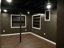 interior painted basement ceiling throughout delightful elegant