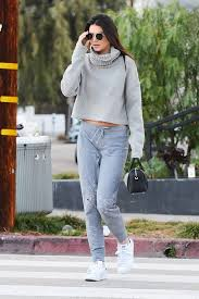 jenner sweater only kendall jenner could pull sweatpants this way duffle