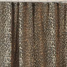 Dainty Home Flamenco Ruffled Shower Curtain Leopard Shower Curtain Set Double Swag Bathroom Shower Curtain