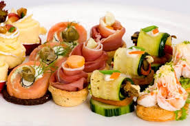 canapes finger food cold canapes can be beautiful and create a dramatic table setting